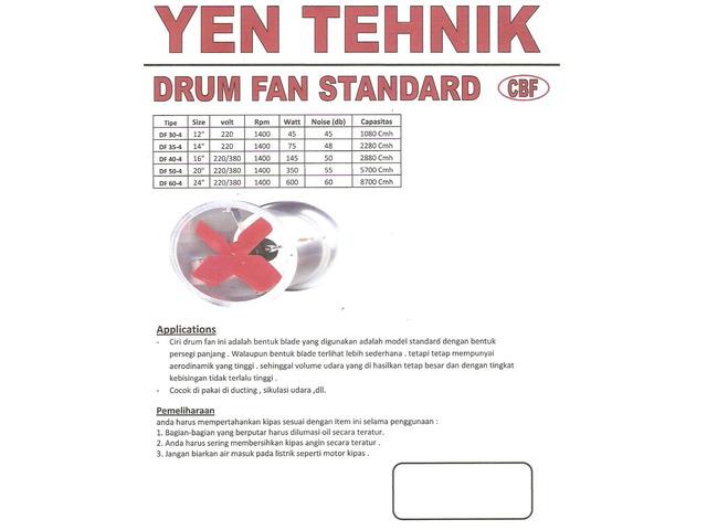 jual drum fan standard Merk CBF