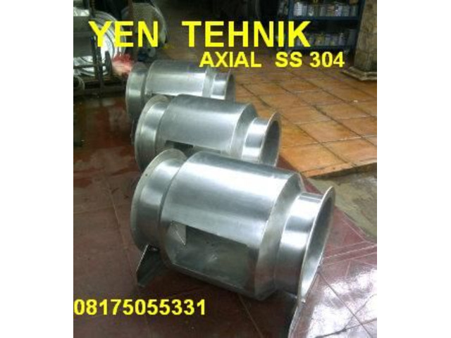 jual Axial beforcated fan stainlees steel 304