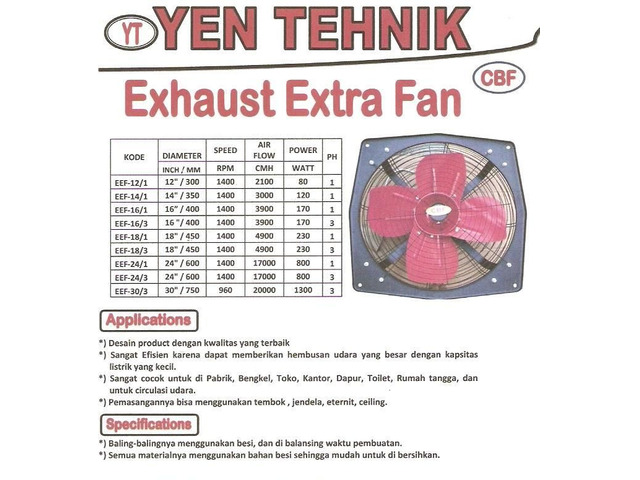 Jual Exhaust Extra Fan