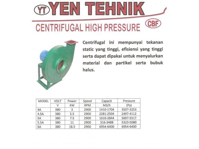 jual centrifugal high pressure fan